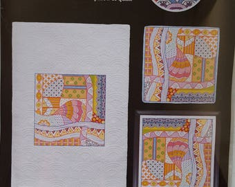 Dazzling Doodles 5:  Artiste Stamped Cross Stitch Kit