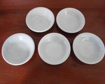Vintage Buffalo China Small Ironstone Bowls Sauce Bowl Small Bowl Soap Dish Restaurant Ware