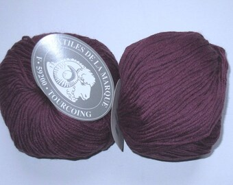 4 skeins 50 fifty 806 purple Merino Wool
