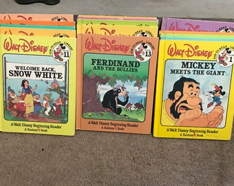 Vintage 1986 Walt Disney Fun-To-Read Library, Lot of 16 Books