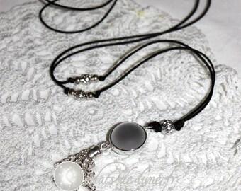 Bola grossesseTintement Bell velvet touch white pearls