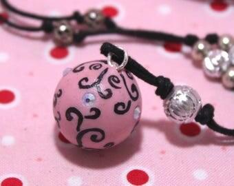Bola pregnancy bola Xylophone pink AB swarovski rhinestones arabesque Bulan