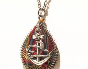 Rainbow Anchor Necklace