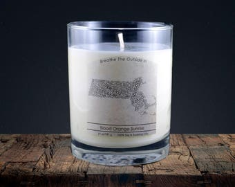 Massachusetts   100% soy wax & essential oil candle   Classic Tumbler   14oz.