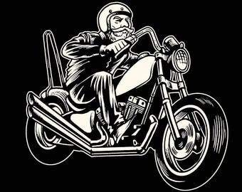 Ridding Chopper   3.5 Inches White Vinyl  Sticker Decal Laptop Car Bumper Sticker
