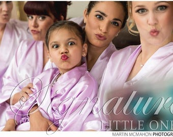 Set of 10 SATIN Bridesmaid Robes Silk Bridal Party Robe Gift Shower ~ Monogrammed Personalized~ White ~ Pink ~ Black ~ Hot Pink ~ Lavender