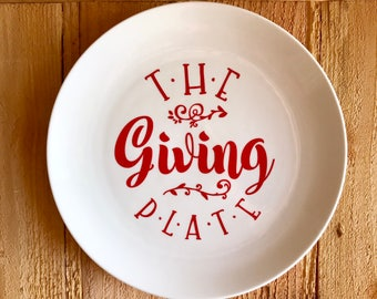 The Giving Plate, Holiday Plate, Cookie Plate, Gift Plate, Cookie Swap Plate, Custom Plate, Holiday Cooking, Holiday Gifts, Plate to Share