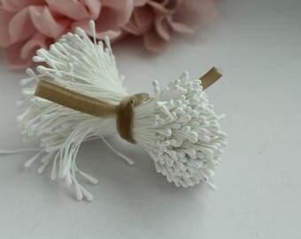 White Millinery Artificial Flower Stamen
