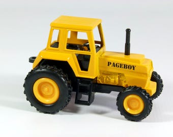 Personalised Pageboy or Ring Bearer gift, small toy model farm tractor, 9cm
