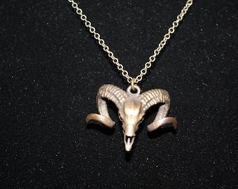 Small Ram Skull Necklace