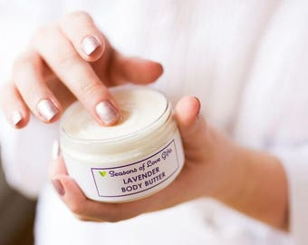 Natural Lavender Body Butter - Lavender Lotion - Lavender Moisturizer For Dry Skin