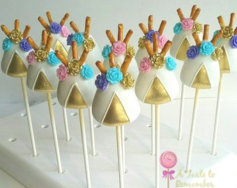 12 Teepee Cake Pops - Any Color