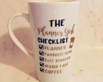 Planner Girl Mug // Planner Girl Travel Mug // Planner Girl Coffee To Go // Planner Girl Checklist // The Planner Girl Checklist