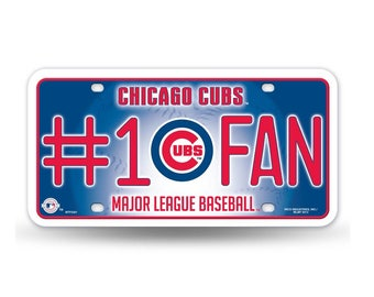 Chicago Cubs MLB #1 Fan Metal License Plate
