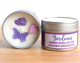 Bordeaux Natural Soy Wax Candle