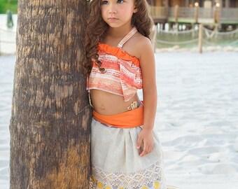 Moana Birthday, Moana Costume,  Moana dress, Moana Hawaiian Princess, Moana outfit