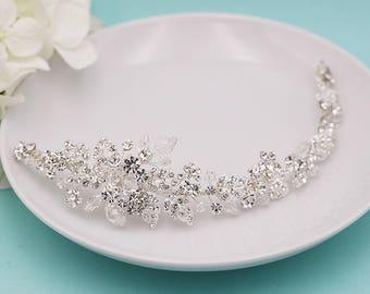 Wedding Hair Vine, Swarovski Crystal Bridal Wedding Headpiece Vine, Flexible Vine Handwired Crystal Hair Piece, Wedding Hair Piece 207993564
