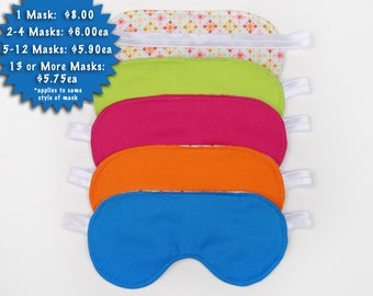 Sleeping eye mask craft spa party sleep over pajama party favor