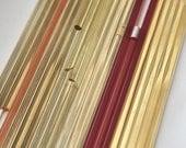 Striker mixed bundle Effetre (Moretti) glass rods, 4-6mm,