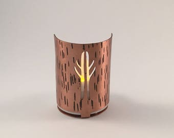 Antler tea light holder
