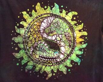 LG. Ying-Yang handmade batik dragon t shirt