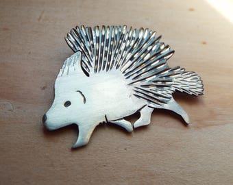 Sterling Silver Crested Porcupine necklace