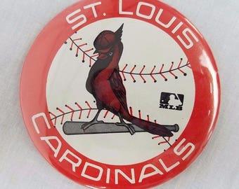 St Louis Cardinals Baseball Pin Vintage MLB Cardinal on Bat Ball Emblem