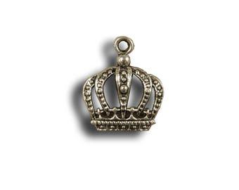 """Set of 2 Mini charms """"Pretty Crown"""""""