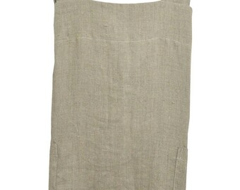 Japanese apron with pockets in 100% natural washed linen