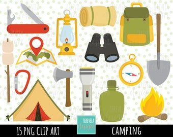 80 SALE CAMP Clipart Camping Commercial Use Digital