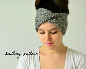 PATTERN: Knit Turban Headband Pattern, The Delaney