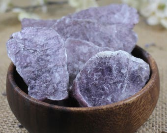 Raw Layered Lepidolite Crystal Healing Crystals and Stones Rough Crystal Raw Stone Bohemian Decor Alter Crystal Yoga Stone Mineral