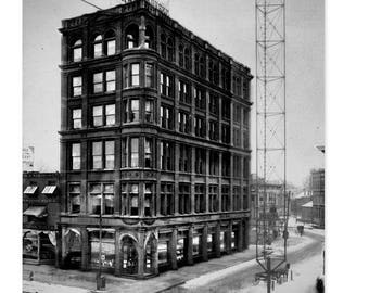 1904 Wright Kaye Building Detroit  vintage greetings.