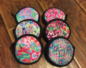 LILLY Pulitzer Inspired print Coin Purse Ear Bud Case