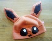 Pokemon Eevee inspired fleece cosplay hat with ears