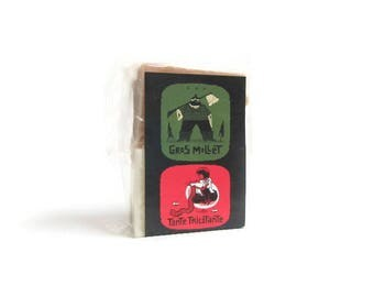 Beer Twins: two small beer soap bars infused with Gros Mollet and Tante Tricotante beer gift for him