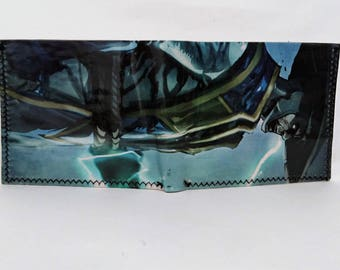 recycled comic book wallet, slim wallet, hanmade wallet, card holder, thin wallet, vinyl wallet, mens wallet , mortal kombat