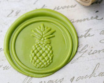 """""""Pineapple"""" tropical wax stamp seal"""