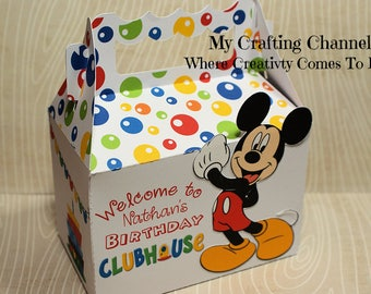 LG Mickey Mouse Clubhouse Birthday Treat Box Sets-Mickey Mouse-Birthday Treat Boxes-Classroom Party Boxes-Birthday