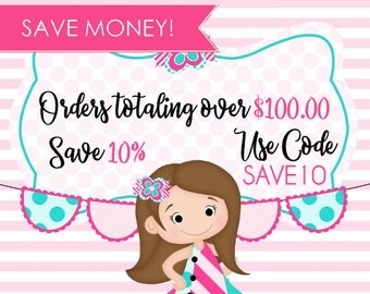Save 10, 10 Percent Savings, Please DO NOT Purchase this Listing, Ad Only! MUST use Code when checking out can not be applied after purchase