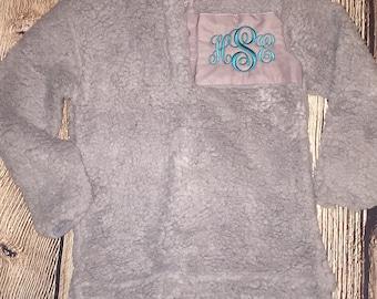 Monogram Sherpa, Sherpa Monogrammed, Monogram, Soft Pullover, Sherpa Pullover, Monogrammed Sherpa Pullover, Monogrammed Pullover,