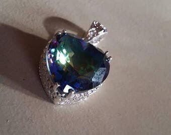 Holiday SALE 85 % OFF Mystic Topaz   Pendant Gemstones  . 925 Sterling Silver