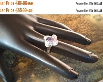 Holiday SALE 85 % OFF Amethyst  Size 5 1/4 Ring Gemstone. 925 Sterling  Silver   Etsy Gift Sale