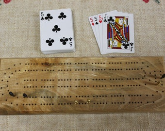 Two Track Birch Cribbage Board, Continuous Track