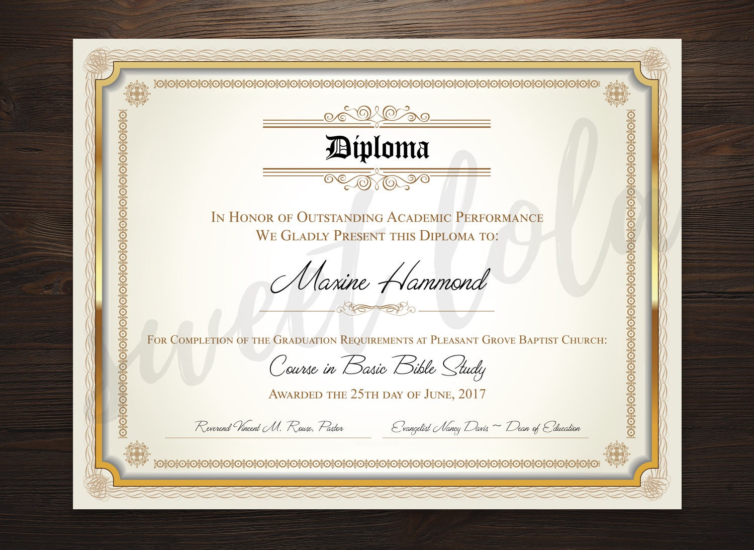 Instant download diploma certificate template customizable zoom yadclub Choice Image