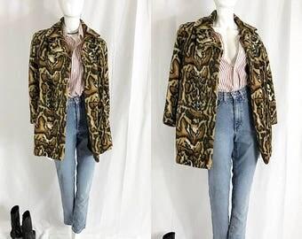 VINTAGE• 1960s Faux Leopard Coat