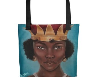 Queen Nzingha Tote bag