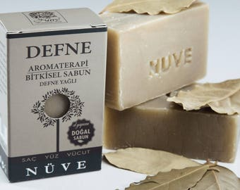 Nuve Laurel Soap - Handmade Aromatherapy Herbal Collection - All Natural With Olive Oil (110 gr. / 4 oz.)