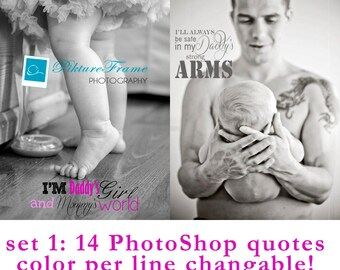 Quotes for baby and newborn images PS editable