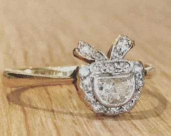 A Diamond Edwardian Ring